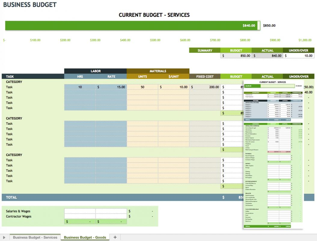 Income And Expenditure Template For Small Business