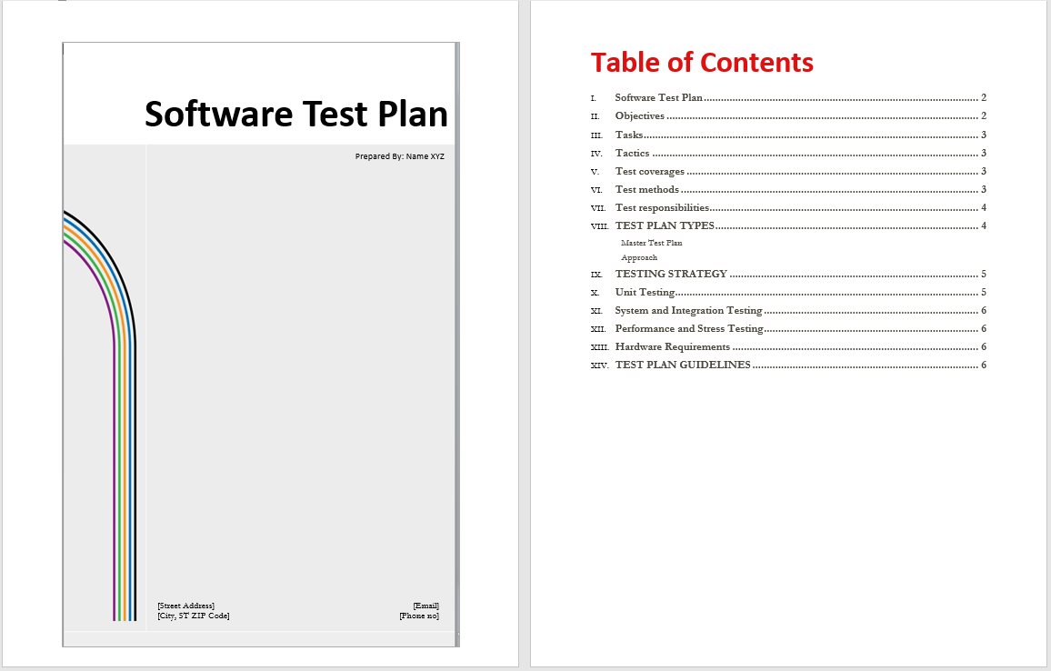 Test Strategy Template Ieee 829