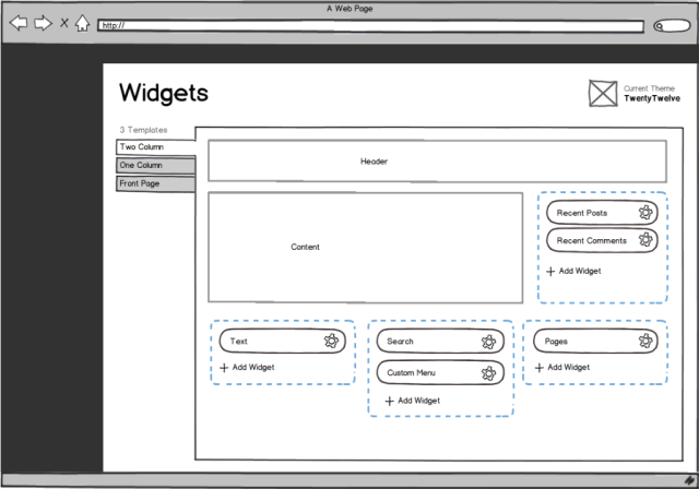 Widget Area Blueprint