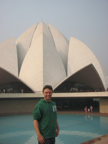 Learn about a the Baha'i' faith at the lotus temple.