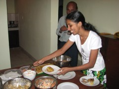 MONDAY - After my Sinhala class, we were invited to Anjali's birthday party where we were fed copious amounts of delicious food.