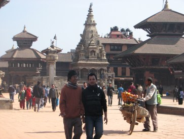 This is Bhaktapar - an ancient city near Kathmandu and was a separate kingdom in year's past. Beautful buildings and temples are found in the city.