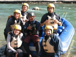 We also went rafting. Day 1 was a float down the river and Day 2 was an angry flurry. One of our guides actually fell out of the boat - I saved him though...no big deal.