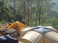 We all camped out on a tea estate property.