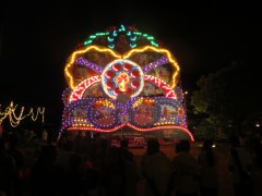 Vesak pandols are throughout the city depicting scenes from the life of the Buddha.
