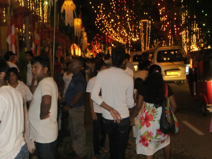 It almost seemed magically to have the streets so lively. It is my third and final Vesak and I'm going to miss it.