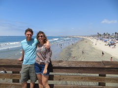 On the Newport Beach Pier moments before I ran to a toilet.