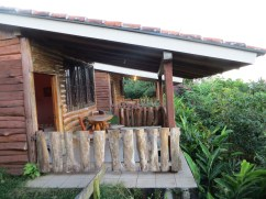 Our accomodations at the build site - old cabins that coffee plantation workers used to live in.