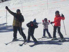 Miguel, Cheryl, Cannella and Leo joined us on this trip. It was Miguel and the kids first time skiing and they impressed us all with their mad skills and their huge smiles throughout the trip.