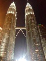 The Petronas Towers are the highlight of the KL skyline. We attempted to get a selfie with it, but it proved impossible (although that didn't seem to be stopping the throngs of tourists.)