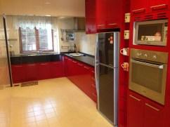 Very red kitchen