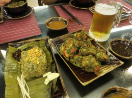Food cooked in a banana leaf is somehow more delicious.