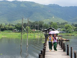 The hills around Inle Lake are very green and while it is cooler than Yangon, the sun still gets hot.