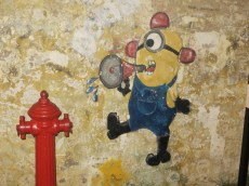 The Minions made an appearance on the walls too.