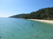 After our animal watching, we spent a day on Mandakan Beach near Kota Kinabalu. Feels just like a warm bath.