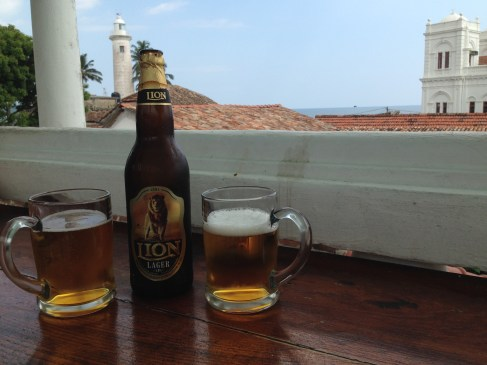 Ah- we enjoyed Lion beer on the rooftop in Galle.
