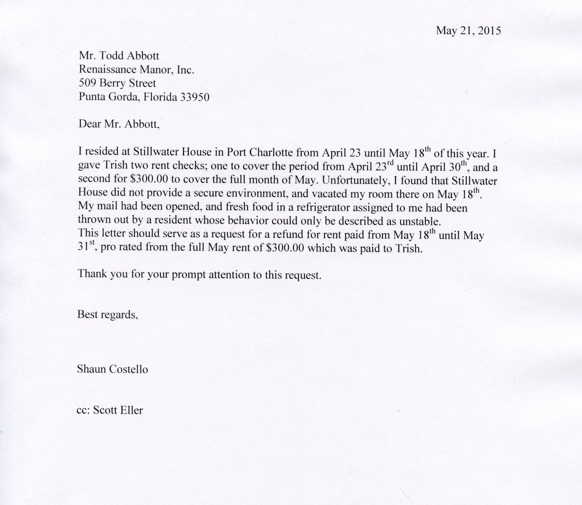 Sample Letter To Local Congressman