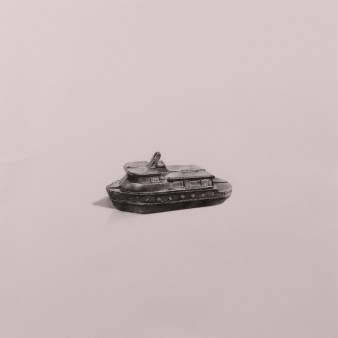 """Boat"" Wax pencil on card, 40cm x 40cm, Sold"
