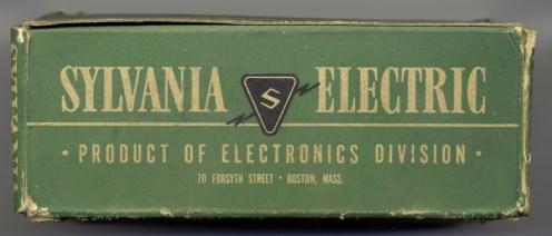 Sylvania earlier Tube Box