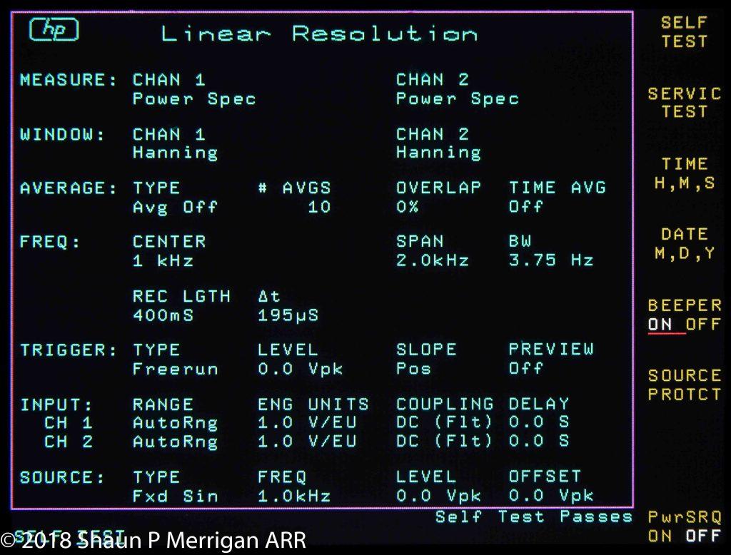 HP 3562A LCD Screens