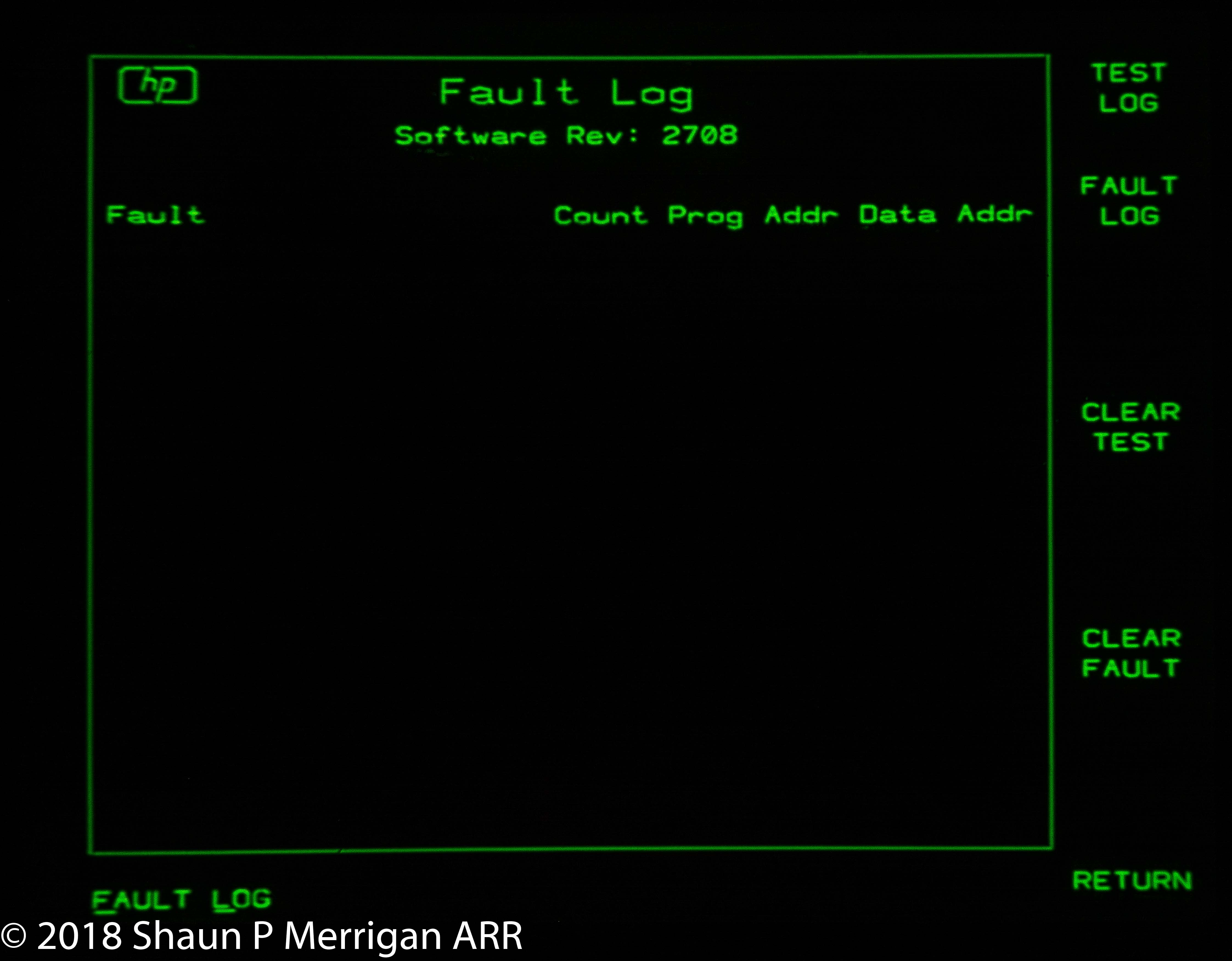 HP 3562A Post Repair no faults