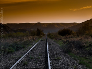Sunset on Waynes rails_