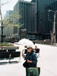 Old Lady with Umbrella at AMA Plaza (2)