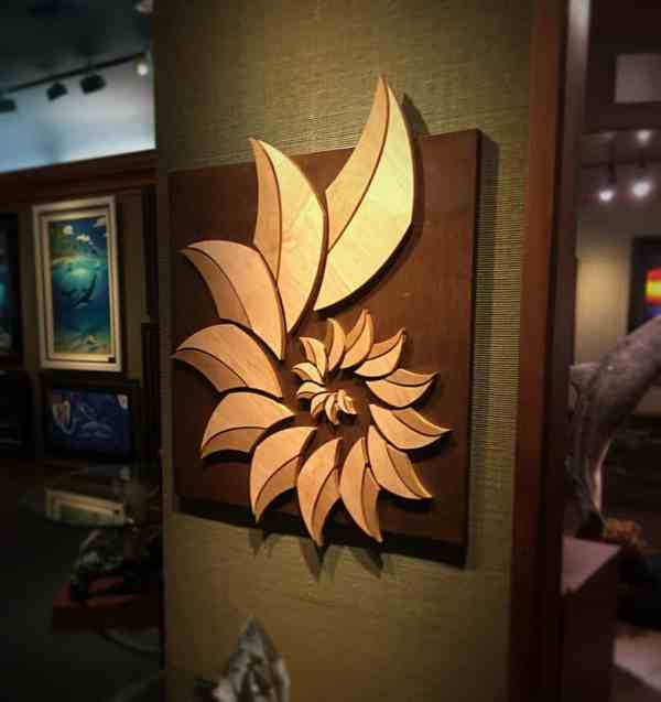 Wood Artist Surf Art Wall Sculptures - Wave