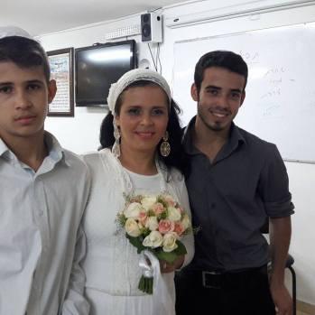 Rachel with her kids