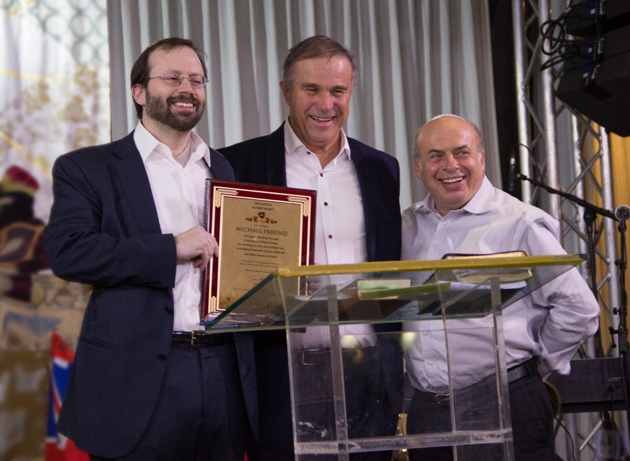 Michael Freund receives Aliyah award