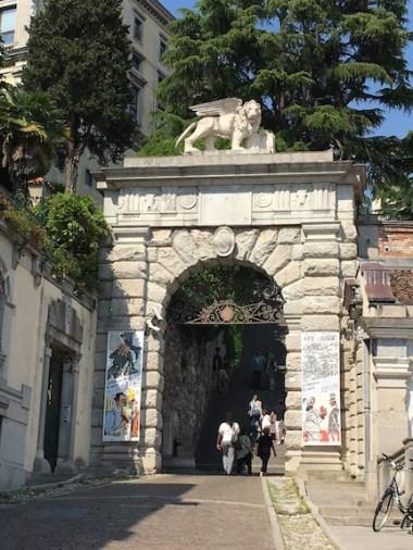 Piazza della Libertà - L'Arco Bollani - stairway up to the Castello di Udine Udine, Italy Date: Saturday May 27, 2017