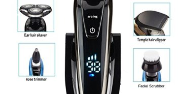 BEMAGSA Power Series Rotary Shaver,Wet and Dry Men's Electric Razor,Ra… Review