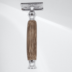 Eco-Friendly(THE ECO EDGE) Double Edge Safety Razor with Long Natural Bamboo Handle