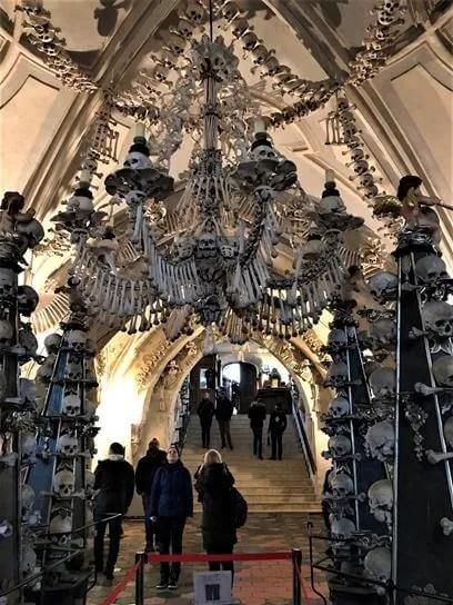 Inside of Sedlec Ossuary - Kutna Hora Czech Republic