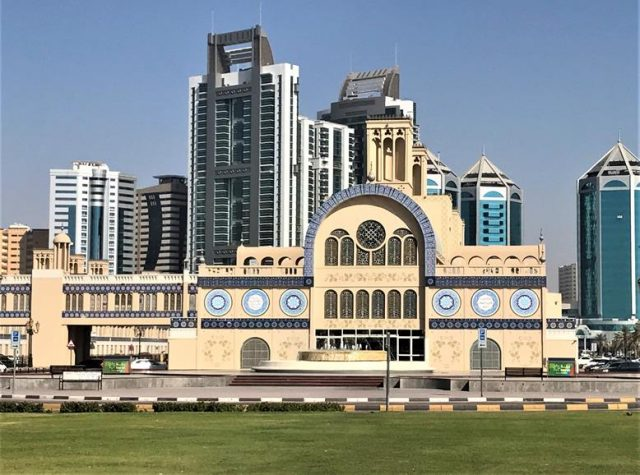 The beautiful architecture of Sharjah