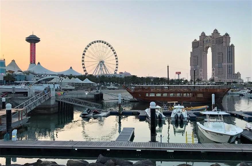 A ferris wheel ride in Abu Dhabi