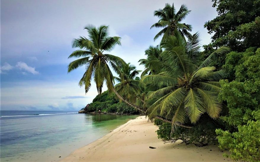 One of the many beautiful beaches in Mahe