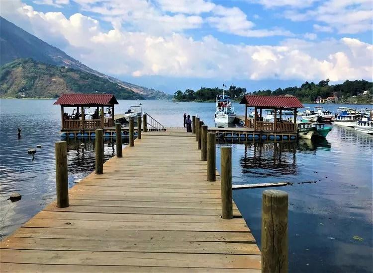 The harbor of Santiago Atitlan