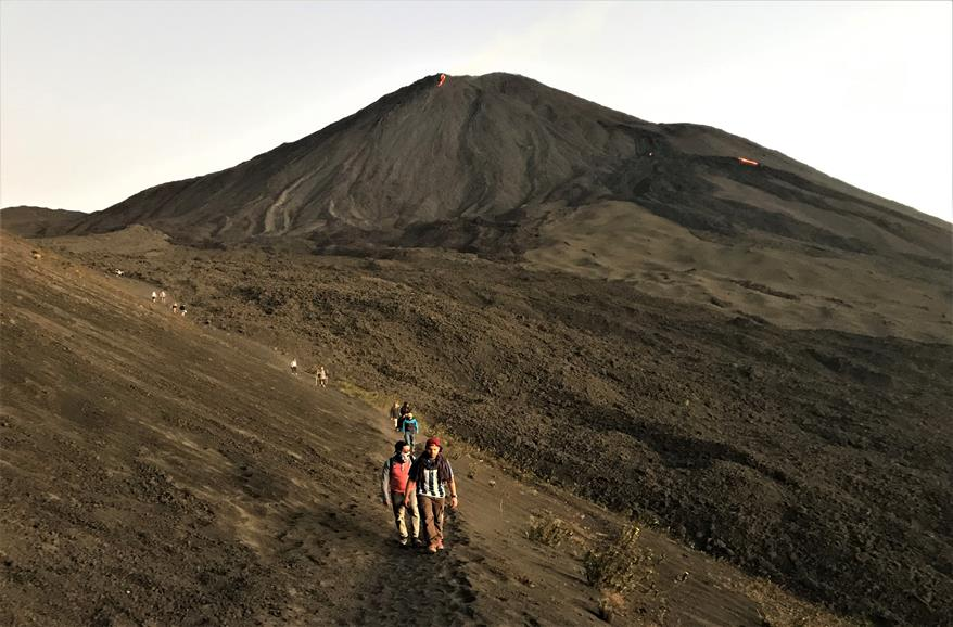 Hiking at Pacaya volcano, Guatemala