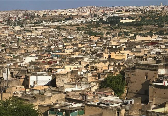 View from the top of the old town - Fes, Morocco
