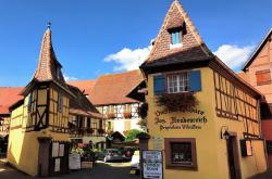 The charming village of Eguisheim in the Alsace