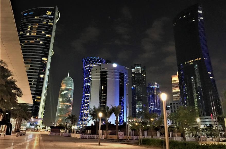 Doha's skylines at night