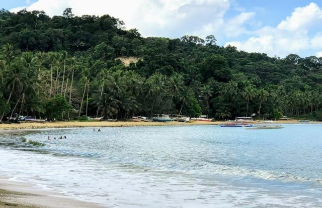 The view of Itaytay beach in Port Barton