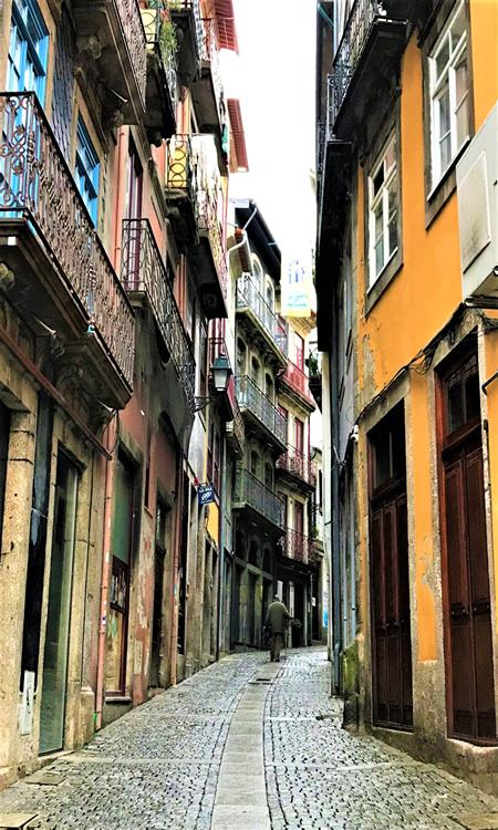One of the historic streets in the old quarter