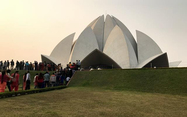 The impressive building of Lotus Temple