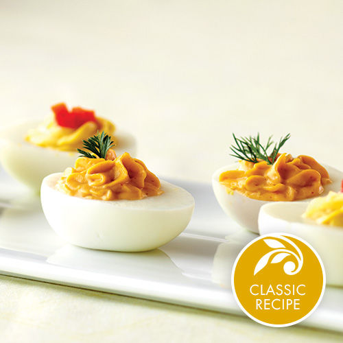 Habanero Mango Deviled Eggs