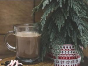 Peppermint Moonshine Hot Chocolate
