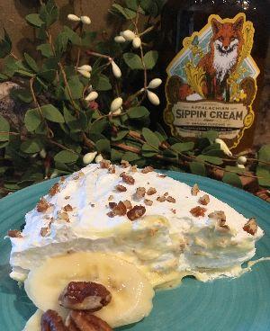 Creamy Banana Moonshine Pie