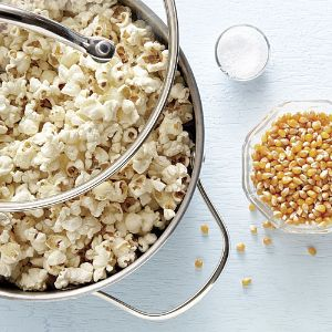 Stovetop Olive Oil Popcorn