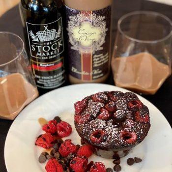 Raspberry Wine Lava Cake